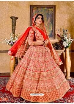 Classy Red Heavy Embroidered Wedding Lehenga Choli