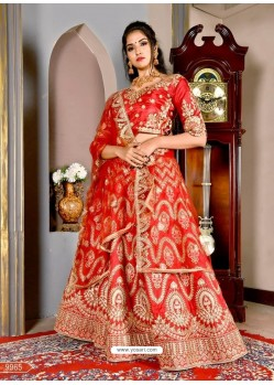 Classy Maroon Heavy Embroidered Wedding Lehenga Choli