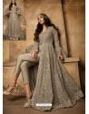 Fabulous Grey Embroidered Designer Anarkali Suit