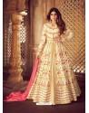 Fabulous Cream Embroidered Designer Anarkali Suit