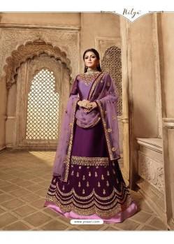 Fabulous Purple Designer Palazzo Salwar Suit