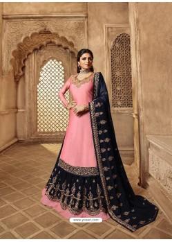 Ravishing Pink Designer Palazzo Salwar Suit