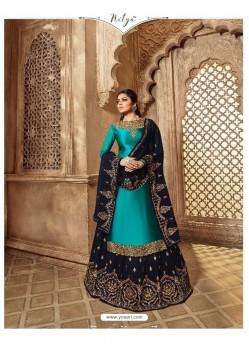 Ravishing Peacock Blue Designer Palazzo Salwar Suit