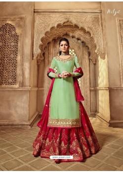 Ravishing Peach Designer Palazzo Salwar Suit