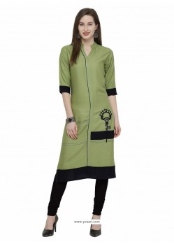 Fabulous Green Designer Readymade Kurti