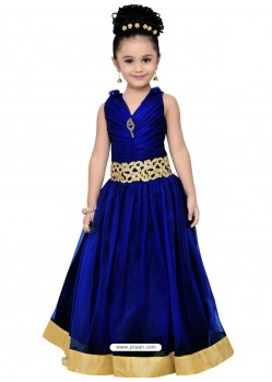 Fabulous Royal Blue Party Wear Gown for Girls
