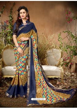Awesome Camel Designer Georgette Sari