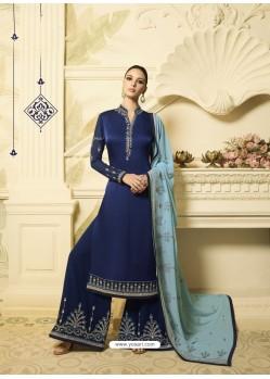 53090e12629 Scintillating Navy Blue Designer Palazzo Salwar Suit