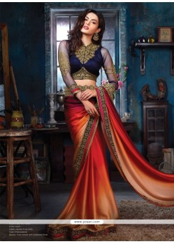 Fab Multicolor Satin Party Wear Saree