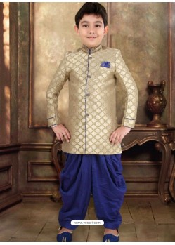 Classy Beige Sherwani For Boys