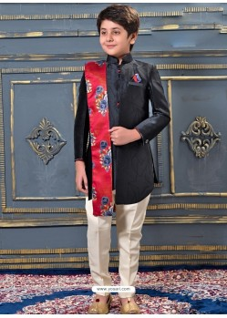 Classy Black Sherwani For Boys