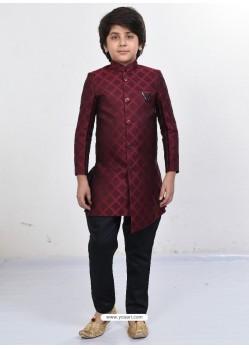 Dashing Maroon Sherwani For Boys
