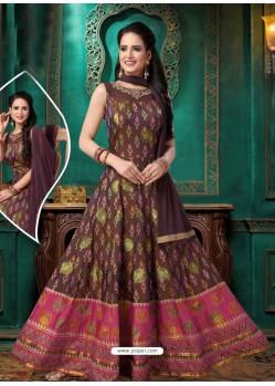 Ravishing Deep Wine Embroidered Anarkali Suit
