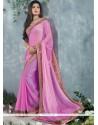 Fabulose Pink Chiffon Party Wear Saree