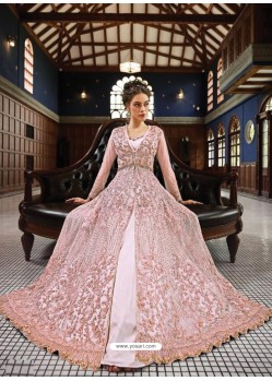 Fabulous Baby Pink Embroidered Designer Anarkali Suit