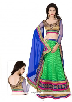 Green Embroidery Work Georgette Lehenga Choli