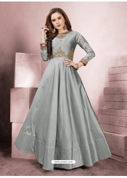 Sizzling Grey Party Wear Gown for Girls
