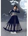 Fabulous Navy Blue Embroidered Designer Anarkali Suit