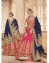 Scintillating Fuchsia Heavy Embroidered Wedding Lehenga Choli