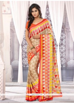 Embellished Multicolor Chiffon Satin Saree