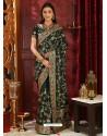 Classy Black Designer Silk Sari