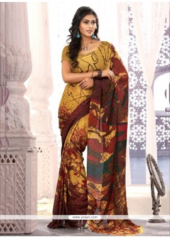 Fab Multicolor Chiffon Satin Casual Saree
