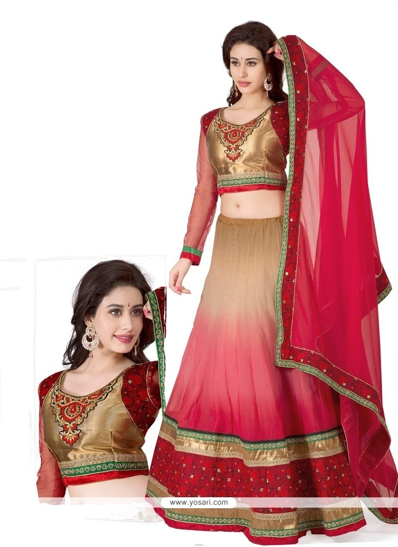Stellar Multicolor Georgette Lehenga Choli