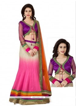 Pink Shaded Georgette Lehenga Choli