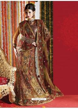 Fabulous Multi Colour Heavy Embroidered Bridal Lehenga Choli