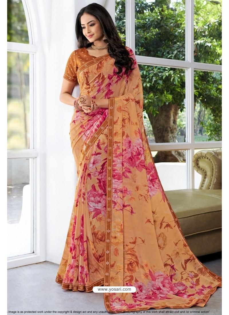 Trendy Multi Colour Designer Printed Sari