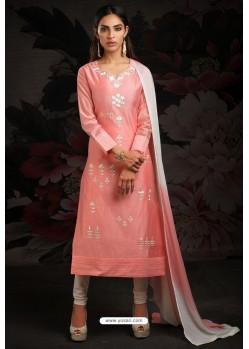 Ravishing Pink Embroidered Churidar Salwar Suits