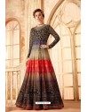 Fabulous Multi Colour Embroidered Designer Anarkali Suit