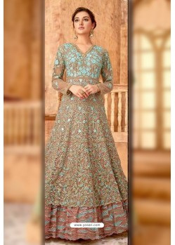 Fabulous Beige Embroidered Designer Anarkali Suit