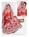 Fabulous Red Heavy Embroidered Wedding Lehenga Choli