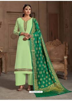 Ravishing Sea Green Embroidered Palazzo Salwar Suit