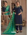 Ravishing Navy Blue Embroidered Palazzo Salwar Suit