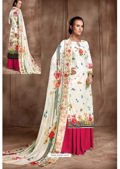 Scintillating Off White Designer Palazzo Salwar Suit