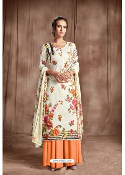 Markable Off White Designer Palazzo Salwar Suit