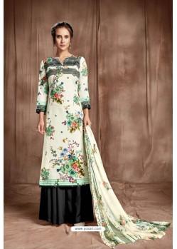 Modern Off White Designer Palazzo Salwar Suit