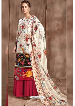 Pretty Off White Designer Palazzo Salwar Suit