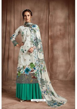 Desirable Off White Designer Palazzo Salwar Suit