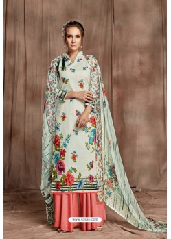 Stunning Off White Designer Palazzo Salwar Suit