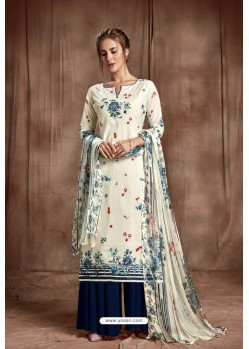 Nice Looking Off White Designer Palazzo Salwar Suit