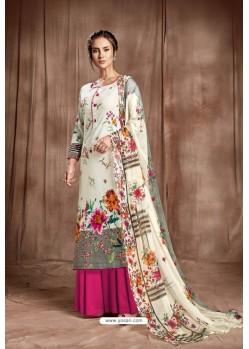 Elegant Off White Designer Palazzo Salwar Suit