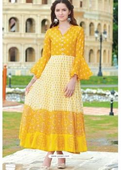Awesome Yellow Designer Readymade Kurti