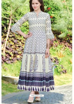 Awesome Off White Designer Readymade Kurti