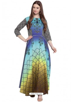Fabulous Multi Colour Party Wear Gown for Girls