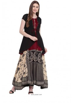 Sizzling Multi Colour Party Wear Gown for Girls