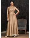 Sizzling Gold Party Wear Gown for Girls