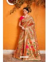 Multi Colour Designer Party Wear Sari